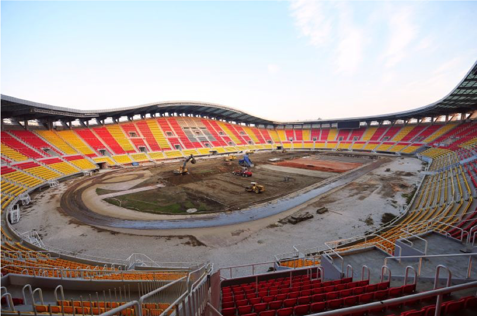 """CONSTRUCTION OF NORTH, EAST AND WEST PLATFORMS AND RECONSTRUCTION OF SOUTH PLATFORM OF THE NATIONAL ARENA """"FILIP OF MACEDON"""""""